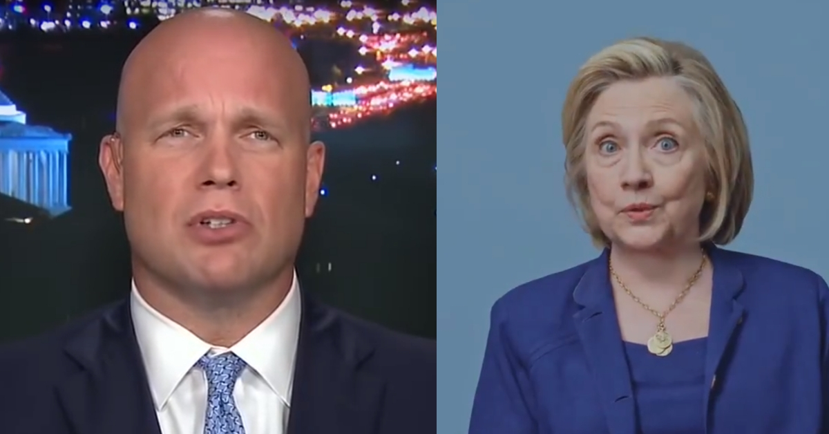 Matthew Whitaker Argued Hillary Clinton Should've Been Charged: 'Strong Case To Bring Against Her'